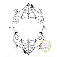 Swirly Spiderweb Frame Embroidery