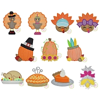 Thanksgiving 2019 Applique Design Set