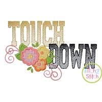 Touchdown Flowers Applique
