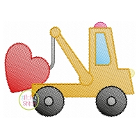 Tow Truck Heart Sketch