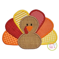 Turkey Boy Applique
