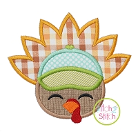 Turkey Face Cap Applique