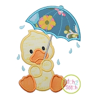 Umbrella Duck Applique Design