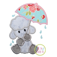 Umbrella Lamb Applique Design