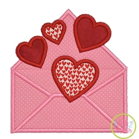 Valentine Envelope Applique
