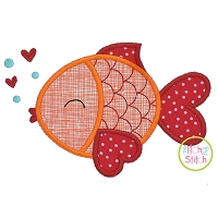 Valentine Fish Applique