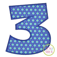 Wacky Numbers Applique Set