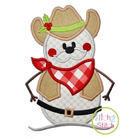 Western Snowman Applique