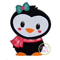 Winter Penguin2 Girl Applique