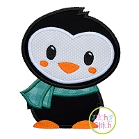 Winter Penguin2 Applique