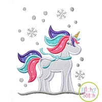 Winter Unicorn Applique