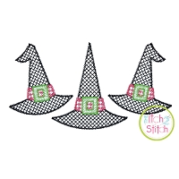 Witch Hat Trio Motif Embroidery