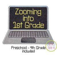 Zooming Into School Laptop Applique Design Set
