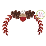 Acorn Oak Leaf Swag Applique