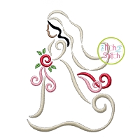 All Occasion Swirly Bride Embroidery