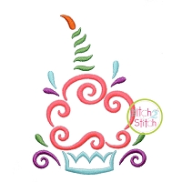 All Occasion Swirly Cupcake Embroidery
