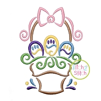 All Occasion Swirly Easter Basket Embroidery