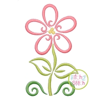 All Occasion Swirly Flower Embroidery