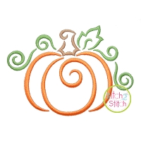 All Occasion Swirly Pumpkin Embroidery