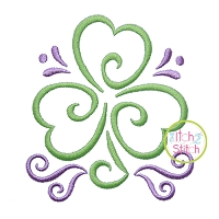 All Occasion Swirly Shamrock Embroidery