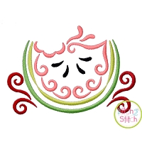 All Occasion Swirly Watermelon Embroidery