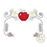 Apple Princess Frame Embroidery