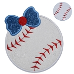Baseball Bow Applique