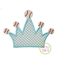Baseball Crown Applique