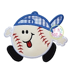 Baseball Run Applique
