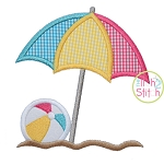 Beach Umbrella Ball Applique