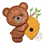 Bear Hugs Beehive Applique