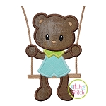 Bear in the Swing Boy Applique