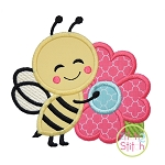 Bee Hugs Flower Applique