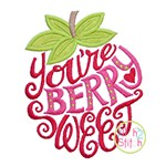 You're Berry Sweet Strawberry Applique