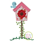 Birdhouse With Vine Applique