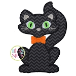 Black Cat Boy Applique
