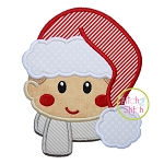 Boy Fluffy Hat Applique