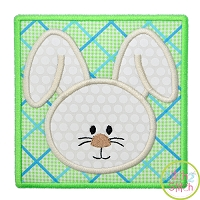Bunny Box Boy Face Applique