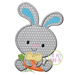 Bunny Boy Holding Carrot Applique