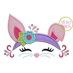 Bunny Flower Headband Applique