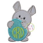 Bunny Holding Egg Applique