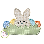 Bunny in the Grass Boy Applique