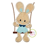 Bunny in the Swing Boy Applique