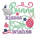 Bunny Kisses and Easter Wishes Applique