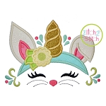 Bunny Unicorn Horn Applique