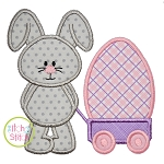 Easter Bunny Wagon Egg Applique