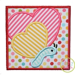 Butterfly Heart Box Applique