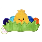 Chick in the Grass Boy Applique
