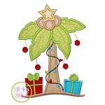 Christmas Palm Tree  Applique