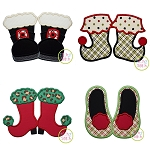 Christmas Shoes Applique Design Set